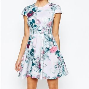 Ted Baker fit and flare mini floral dress